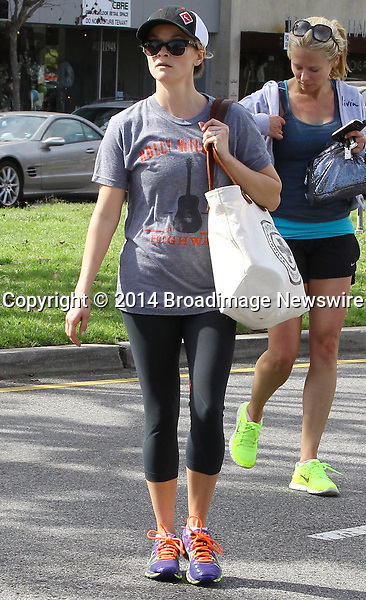 Pictured: Reese Witherspoon<br /> Mandatory Credit &copy; Ben Foster/Broadimage<br /> Reese Witherspoon leaving Yoga Classes in Brentwood<br /> <br /> 3/7/14, Brentwood, California, United States of America<br /> <br /> Broadimage Newswire<br /> Los Angeles 1+  (310) 301-1027<br /> New York      1+  (646) 827-9134<br /> sales@broadimage.com<br /> http://www.broadimage.com<br /> <br /> <br /> Pictured: Reese Witherspoon<br /> Mandatory Credit &copy; Ben Foster/Broadimage<br /> Reese Witherspoon leaving Yoga Classes in Brentwood<br /> <br /> 3/7/14, Brentwood, California, United States of America<br /> Reference: 030714_HDLA_BDG_019<br /> <br /> Broadimage Newswire<br /> Los Angeles 1+  (310) 301-1027<br /> New York      1+  (646) 827-9134<br /> sales@broadimage.com<br /> http://www.broadimage.com