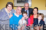 Little Zach Moynihan, Rathanane, Kilcummin celebrated his christening with his parents Gearoid and Helen, big sister Ava Grace, big brother Dean, and his godparents Linda Dennehy-O'Sullivan and Dermot Moynihan in the Dromhall Hotel on Saturday