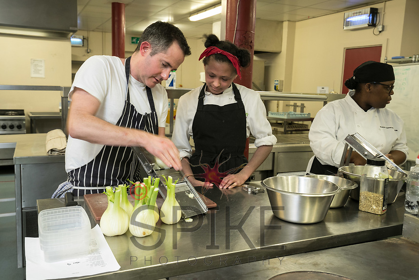 Pictured is Mark Anderson instructing Candice Pryce (left) and Kenya Cameron-Richards