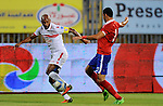Al-Zamalek players and Al Ahli players compete during final match of Egypt Cup  in Borg El-Arab Stadium near Alexandria, Egypt, Aug 8,2016. Photo by Stringer