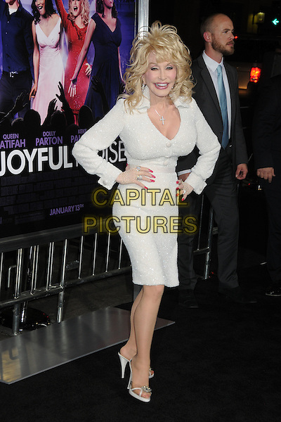 Dolly Parton.'Joyful Noise' Los Angeles premiere held at Grauman's Chinese Theatre, Hollywood, California, USA..9th January 2012 .full length white dress hands on hips.CAP/ADM/BP.©Byron Purvis/AdMedia/Capital Pictures.