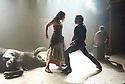 Carmen Disruption by Simon Stephens, directed by Michael Longhurst. With Viktoria Vizin as Chorus, John Light as Escamillo. Opens at The Almeida Theatre on 17/4/15. CREDIT Geraint Lewis