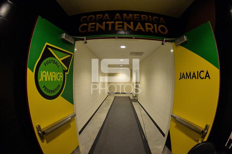Santa Clara, CA - Monday June 13, 2016: Jamaica Locker Room during a Copa America Centenario Group C match between Uruguay (URU) and Jamaica (JAM) at Levi's Stadium.