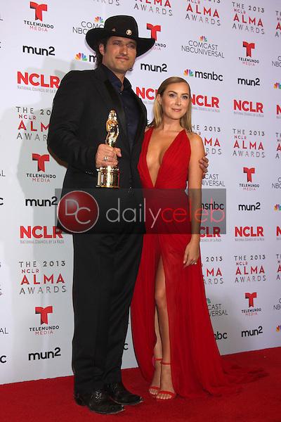 Alexa Vega, Robert Rodriguez<br /> at the 2013 NCLR ALMA Awards Press Room, Pasadena Civic Auditorium, Pasadena, CA 09-27-13<br /> David Edwards/Dailyceleb.com 818-249-4998