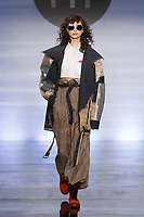 Model walks runway in an outfit by Valentina Russi Rondon, during the Future of Fashion 2017 runway show at the Fashion Institute of Technology on May 8, 2017.