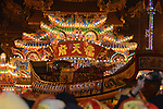 Donggang, Taiwan -- View of  Donglong Temple, with the King Boat in front.