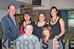 DINNER; Our Lady &  Brendan Folk group who went to Kirby's Brogue Inn, Tralee on Frioday to a beleated christmas dinner, Front l-r: John Lynch and Sharon Walsh. Back l-r: Fr Padraig Walsh, Pamela Teahan, Deirdre O'Keeffe and Brenda Litchfield.......... . ............................... ..........