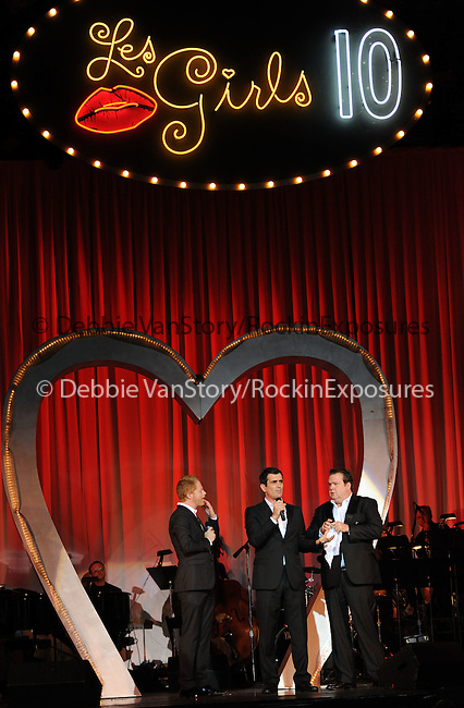 Jesse Tyler Ferguson,Ty Burrell and Eric Stonestreet at the Les Girls 10th Annual Cabaret fundraiser for National Breast Cancer Coalition Fund -NBCCF- held at Avalon in Hollywood, California on October 04,2010                                                                               © 2010 Debbie VanStory / RockinExposures
