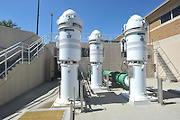 NWA Democrat-Gazette/MICHAEL WOODS • @NWAMICHAELW<br /> The water intake pumps at the North intake facility on Beaver Lake Thursday September 17, 2015.  The North facility was built in 2005, each pump is capable of 14 million gallons of water per day.