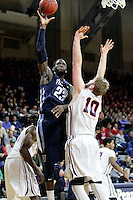 PHILADELPHIA - JANUARY 17: Daniel Ochefu #23 of the Villanova Wildcats takes a shot during a game against the Penn Quakers at the Palestra on the campus of the University of Pennsylvania on January 17, 2015 in Philadelphia, Pennsylvania. Villanova won 62-47. (Photo by Hunter Martin/Getty Images) *** Local Caption *** Daniel Ochefu