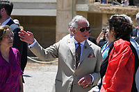Pictured: Prince Charles at Knossos on the island of Crete, Greece. Friday 11 May 2018 <br /> Re:HRH Prnce Charles and his wife the Duchess of Cornwall visit the ancient site of Knossos near Heraklion, Greece.