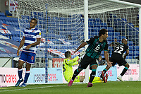 Swansea City's Wayne Routledge celebrates scoring his side's fourth goal and that puts Swansea City into the play-offs<br /> <br /> Photographer David Horton/CameraSport<br /> <br /> The EFL Sky Bet Championship - Reading v Swansea City - Wednesday July 22nd 2020 - Madejski Stadium - Reading <br /> <br /> World Copyright © 2020 CameraSport. All rights reserved. 43 Linden Ave. Countesthorpe. Leicester. England. LE8 5PG - Tel: +44 (0) 116 277 4147 - admin@camerasport.com - www.camerasport.com