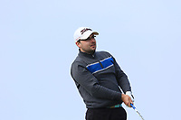 David Redden Jnr (Nenagh) on the 1st tee during Round 3 of The West of Ireland Open Championship in Co. Sligo Golf Club, Rosses Point, Sligo on Saturday 6th April 2019.<br /> Picture:  Thos Caffrey / www.golffile.ie