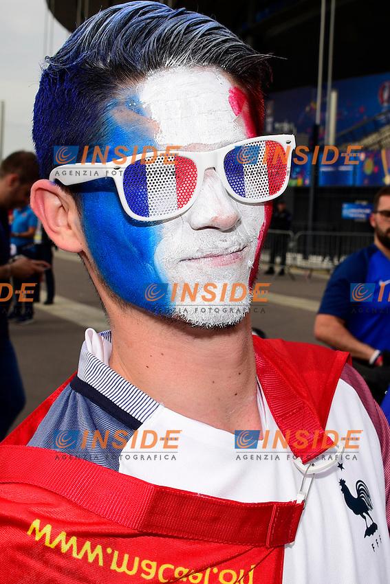 Tifoso Francia <br /> Paris 10-06-2016 Stade de France football Euro2016 France - Romania  / Francia - Romania Group Stage Group A. Foto Federico Pestellini / Panoramic / Insidefoto