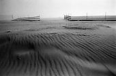 Wind swept sand dunes at Venice Beach, California