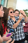 SUNRISE, FL - DECEMBER 21: Musicians Danny Wilkin of the band Rixton pose with fans at Y100's Jingle Ball Village, Y100's Jingle Ball 2014 official pre-show at BB&T Center on December 21, 2014 in Sunrise, Florida.  (Photo by Johnny Louis/jlnphotography.com)