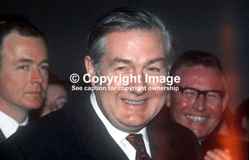 James Callaghan, MP, Labour Party, UK, shadow UK Home Secretary, former Home Secretary, during visit to N Ireland March 1971. 197103000183<br />