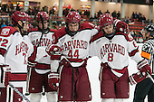 Phil Zielonka (Harvard - 72), Dan Ford (Harvard - 5), Max Everson (Harvard - 44), Patrick McNally (Harvard - 8) - The visiting Boston College Eagles defeated the Harvard University Crimson 5-1 on Wednesday, November 20, 2013, at Bright-Landry Hockey Center in Cambridge, Massachusetts.