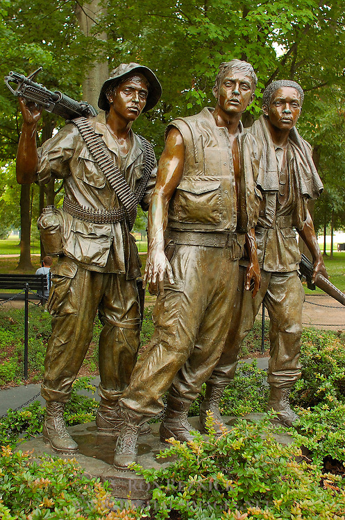 The Three Soldiers, Frederick Hart 1984, Vietnam Veterans Memorial, National Mall, Washington DC