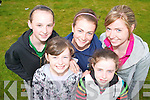 COMPETITORS: Competing in the Rock Street/Caherslee community games at Mercy Mounthawk School on Friday front l-r: Hannah and Courtney Ryan, Mounthawk. Back l-r: Laura Lynch, Cogherbrien, Molly McGilton and Aisling Ninuallain Mounthawk.   Copyright Kerry's Eye 2008
