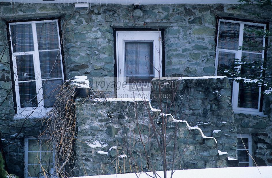 Amérique/Amérique du Nord/Canada/Quebec/Ile-aux-Coudres : La maison Gache