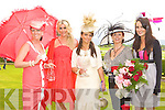The three finalists in the best dressed lady looking stunning with the judges at the Killarney Races on Thursday was l-r: Una Buckley Listowel (best hat), Lisa Fitzgerald (judge), Josie McCannon Killarney (winner), Laura Tangney Killarney (runner up) and Andrea Roche (judge).