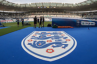 General view of the the three lions emblem waiting to greet the England players inside of Stade de France ahead of the International Friendly match between France and England at Stade de France, Paris, France on 13 June 2017. Photo by David Horn/PRiME Media Images.