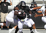 Lindenwood's Kameron Harris runs the ball in the fourth quarter against the St. Francis Fighting Saints.