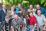 Sliabh Luachra musicians pay their tribute to the Sculptor Mike Kenny, Castleisland, at the Johnny OLeary monument in Killarney last Saturday..
