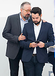 Juan Carlos Girauta and Fernando de Paramo (r) after Ciudadanos General Council. September 30, 2019. (ALTERPHOTOS/Francis Gonzalez)