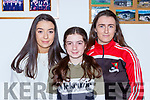 Grace Cahillane Rose Cahillane and Erica McGlynn at the launch of the Fossa GAA 50th anniversary book in their clubhouse on Friday night