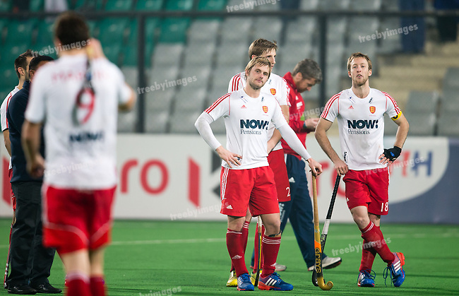 Mens Hockey World league Final Delhi 2014<br /> Day 5, 17-01-2014<br /> England v New Zealand<br /> <br /> <br /> Photo: Grant Treeby / treebyimages