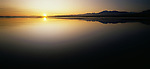 Sunrise on Okarito Lagoon. Westland Region. New Zealand.