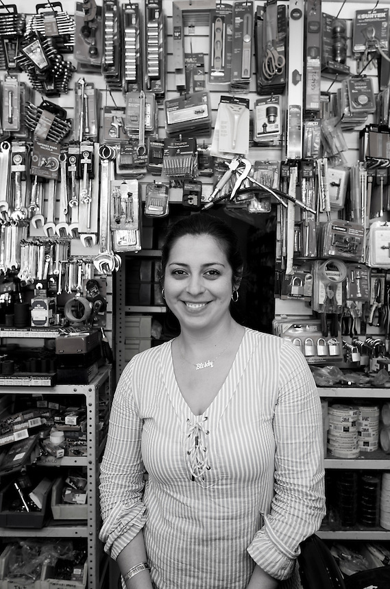 Bleidy Gebreros Ayon. Hardware store owners in Culiacan, Sinaloa,  Mexico
