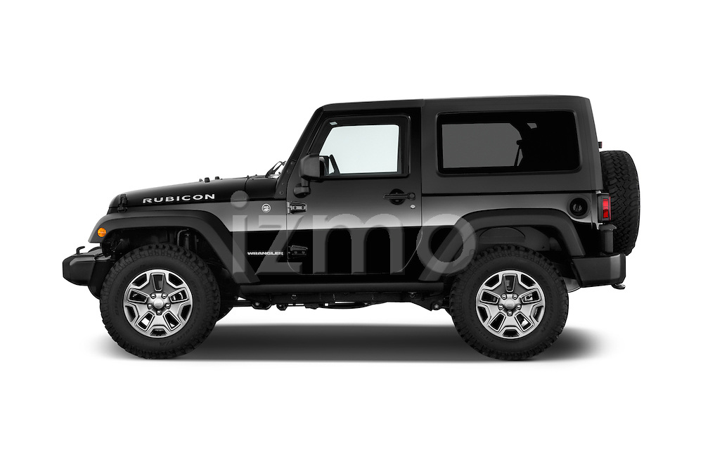 Car Driver side profile view of a 2017 JEEP Wrangler Rubicon 5 Door SUV Side View