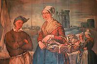 Europe/France/Poitou-Charentes/17/Charente-Maritime/La Rochelle: Musée D'Orbigny ancienne porte peinte d'un poissonier
