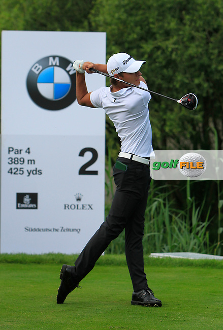 Joakim Lagergren (SWE) on the 2nd tee during the Round 2 of the 2016 BMW International Open at the Golf Club Gut Laerchenhof in Pulheim, Germany on Friday 24/06/16.<br /> Picture: Golffile | Thos Caffrey