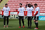 Sheffield Utd players wears Weston park Charity t-shirt during the championship match at the Bramall Lane Stadium, Sheffield. Picture date 14th April 2018. Picture credit should read: Simon Bellis/Sportimage