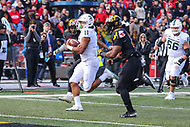 College Park, MD - November 3, 2018:  Michigan State Spartans running back Connor Heyward (11) scores a touchdown during the game between Michigan St. and Maryland at  Capital One Field at Maryland Stadium in College Park, MD.  (Photo by Elliott Brown/Media Images International)