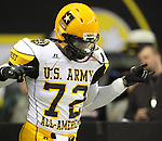 West player Reggie Wilson, from Haltom, Texas, takes the field during the U.S. Army All-American Bowl, Saturday, Jan. 9, 2010, at the Alamodome in San Antonio. (Darren Abate/pressphotointl.com)
