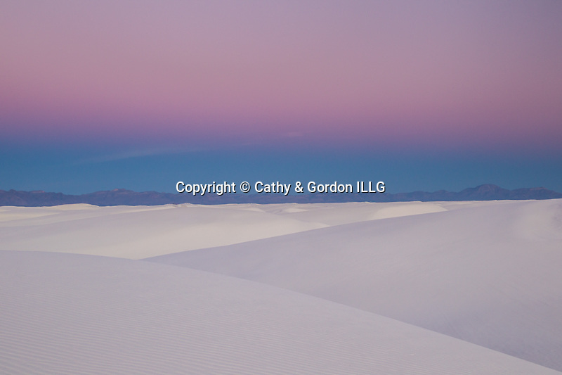 Pre-dawn color over the dunes, White Sands National Monument, NM.