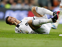Real Madrid's Cristiano Ronaldo injured during La Liga Match. December 01, 2012. (ALTERPHOTOS/Alvaro Hernandez)