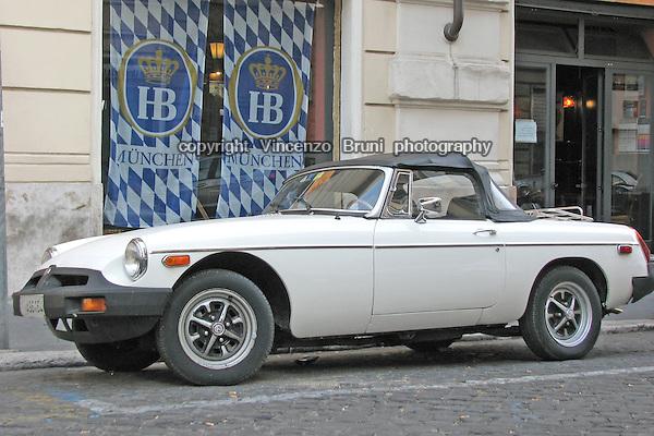 A 1970's British MG B spyder