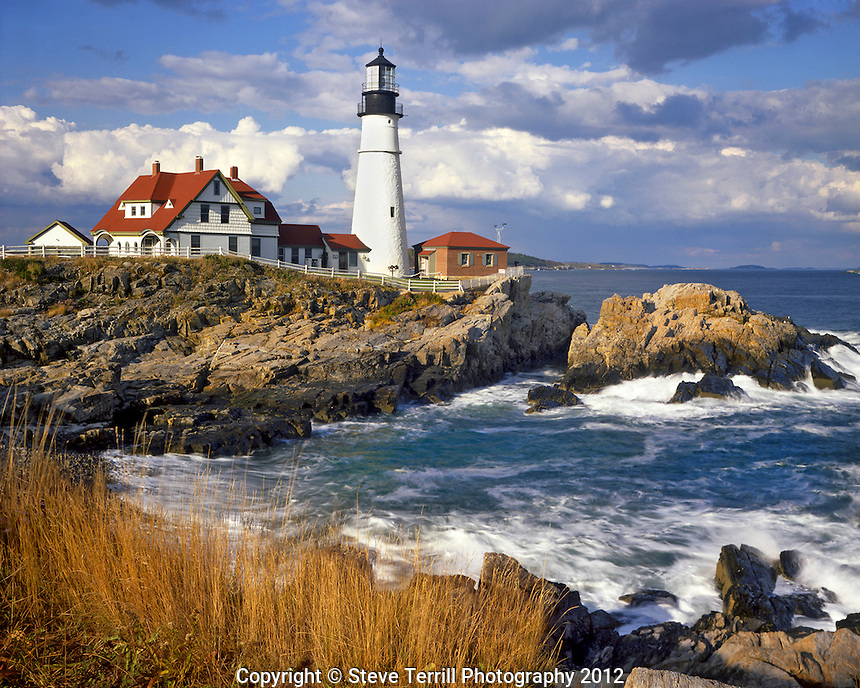 Portland Head lighthouse in South Portland Maine