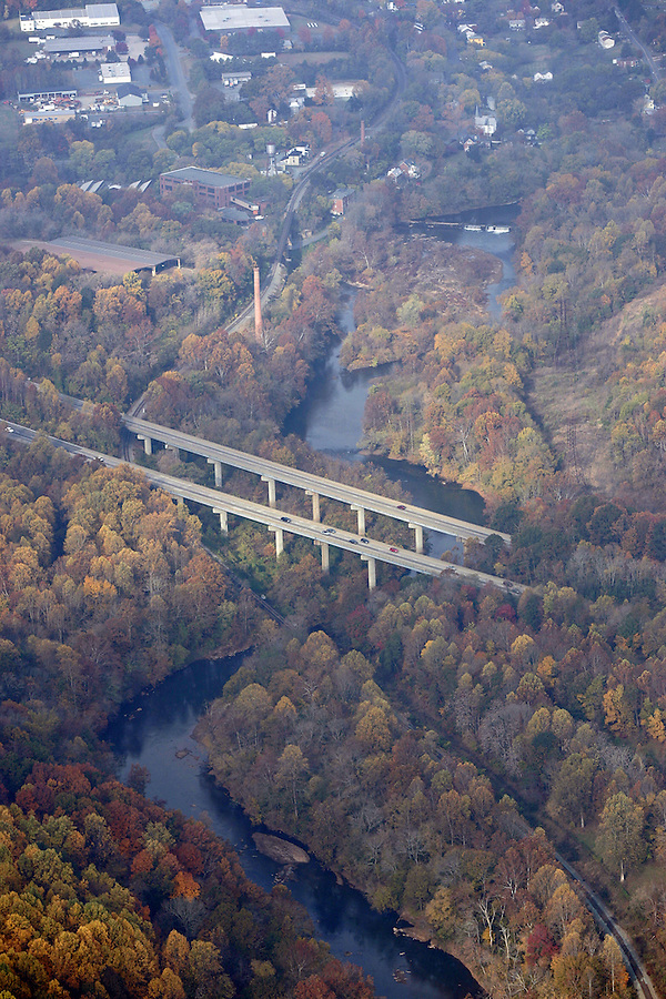 rivanna river, interstate 64, aerial