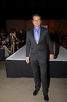 Vincent De Paul sits front Row at Miami Fashion Week 2013, March 24, 2013, Convention Center, Miami Beach, FL,