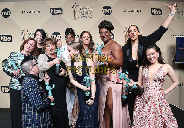 29 January 2017 - Los Angeles, California - Danielle Brooks, Selenis Leyva, Adrienne C. Moore, Yael Stone, Madeline Brewer, Abigail Savage, Annie Golden, Emma Myles, Lin Tucci, Beth Fowler, Dascha Polanco, Lea DeLaria. 23rd Annual Screen Actors Guild Awards held at The Shrine Expo Hall. <br /> CAP/ADM/FS<br /> &copy;FS/ADM/Capital Pictures