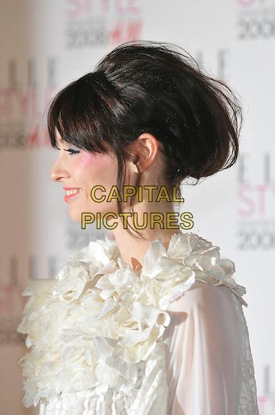 SOPHIE ELLIS BEXTOR.ELLE Style Awards 2008, The Westway, London, England,.12th February 2008..portrait headshot profile hair up.CAP/PL.©Phil Loftus/Capital Pictures