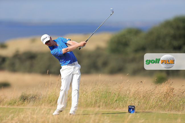 Justin Harding during round one of  The 142th Open Championship Muirfield, Gullane, East Lothian, Scotland 18/7/2013<br /> Picture Eoin Clarke www.golffile.ie: