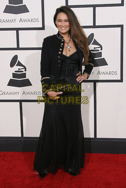LOS ANGELES, CA - JANUARY 26 - Tia Carrere. 56th GRAMMY Awards held at the Staples Center. <br /> CAP/ADM<br /> &copy;AdMedia/Capital Pictures